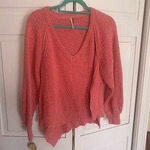 Free People Asymmetrical sweater XS